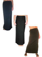 Patternless Formal Regular Size Maxi Skirts for Women