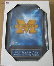 *Sale* Die Hard Fan Michigan Wolverines Framed 8X10 Photo-Man Cave-12X15 Plaque