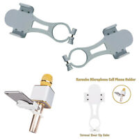 2 x Mini Karaoke Microphone Mount Mic Phone Holder Stand Kit for iPhone