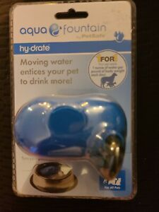 Aqua Fountain Hy-Drate by PetSafe-For All Pets-Filters Water in Any Bowl-NIB