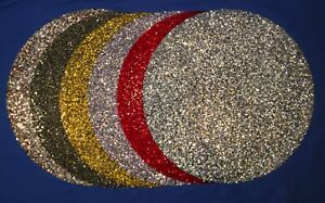 Rhinestone Round Placemat Sparkles Luminous Purple Gunmetal Red Gold Silver NEW!