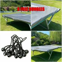 350GSM TARPAULIN EXTRA HEAVY DUTY FOR TRAMPOLINE COVER PROTECT + 6 BUNGEES