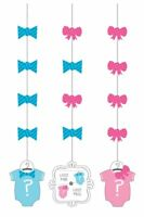 ** 3 X BOW OR BOWTIE? HANGING CUTOUTS GENDER REVEAL PARTY BOY OR GIRL DECORATION