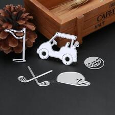 Golf Set Metal Cutting Dies Stencil DIY Scrapbooking Embossing Paper Card Craft