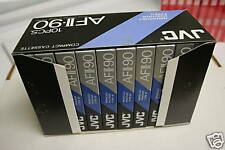 10 JVC AFII-90 Hi Bias Audio Cassette Tapes