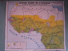 Z147 AFFICHE SCOLAIRE ECOLE ROSSIGNOL AFRIQUE CENTRE OUEST
