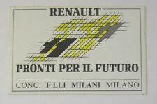 VECCHIO ADESIVO AUTO anni '80 / Old Sticker RENAULT 11 (cm 13 x 9)
