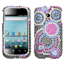For Huawei T-Mobile Prism U8651T Crystal Diamond BLING Case Phone Cover Bubble