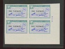 Guernsey SARK 1966 Europa 1/6 Heron plane PROOF INVERTED ovpt blk 4