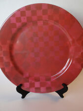 Large Hard Plastic Red Check Charger Dinner Plate Party Serveware Holiday Glam