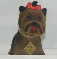 Wackel Figur Hund Yorkshire klein Höhe 12 cm Dekofigur Wackelfigur Kunststoff