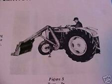 Ford Tractor 8019014000 Front Loader Single Arm Model 711722 Operators Manual