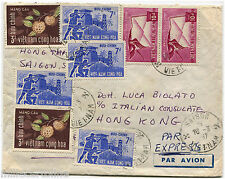 SOUTH-VIETNAM, AIR MAIL, ANNULS SAIGON, 1967, 8 STAMPS VIET NAM CONG HOA       m