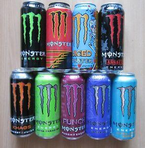 LITHUANIA Monster 9+ Cans L.Hamilton Juiced  Assault Khaos Paradise Emp. 500ml