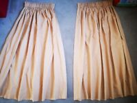John Lewis Gold Yellow Bronze Curtains hand made fully lined. RRP £149