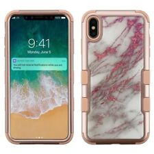 """for Apple iPhone XS Max 6.5"""" TUFF Impact Krystal Armor 3Piece Case Cover PryTool"""