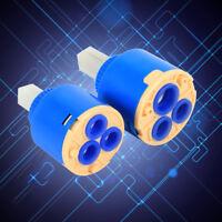 Newest 40mm Ceramic Disc Cartridge Water Mixer Tap Inner Control Faucet Valve