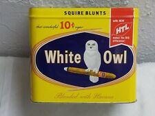 vintage WHITE OWL cigar Tobacco Tin, great color & graphics, missing the lid