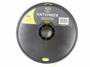 Hatchbox 3D Printer Filament Transparent Yellow 1.75mm Diameter