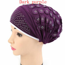 Women Muslim Stretch Turban Hat Wrap Hijab Cap Chemo Cap Hair Loss Head Scarf