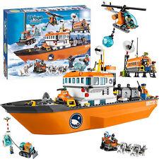 CITY Arctic Expedition Arctic Ice Breaker Ship Building Bricks Kid Toys 760pcs