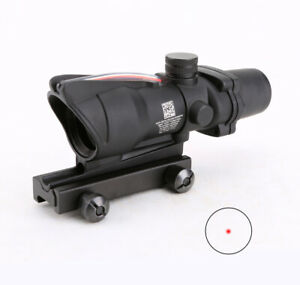Tactical ACOG 1X32 Real Fiber Scope Red or Green Dot Sight Optics for Airsoft
