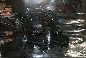 Pleaser Flair 436 Strappy black High heel sandals Size 11