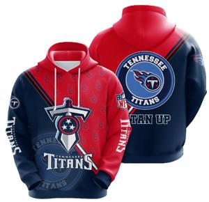 Tennessee Titans Hoodies Mens Casual Sweatshirt Fans Football Pullover Jacket