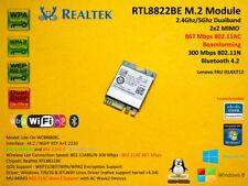 Realtek RTL8822BE M.2 NGFF 802.11AC 867Mbps Bluetooth Wlan FRU 01AX712 2.4/5Ghz