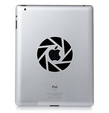 Aperture science lab. apple ipad mac macbook sticker autocollant vinyle. couleur personnalisée
