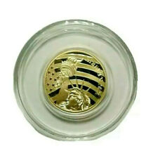 2021 $5.00 Gold Liberty Statue Bell. 24 Pure 1/10 oz. Proof Struck Coin.