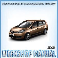 RENAULT SCENIC MEGANE SCENIC 1996-2003 SERVICE REPAIR MANUAL IN DISC