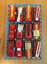 MATCHBOX SUPERFAST CARRY CASE TRAY WITH FIRE ENGINE DIECAST MODELS - SPARES ETC