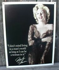 Marilyn Monroe Sign Living in a Mans World Nostalgic Metal 12 1/2x16 Inches New