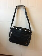 Angry Birds black, faux leather Messenger Bag, hardly used.