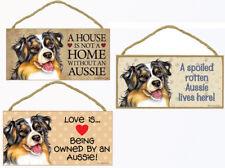 "Aussie Dog Sign Plaque 10""x5"" House not Home, Spoiled Australian Shepherd Love"