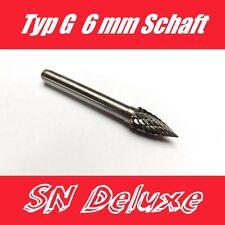 Typ G 8mm Kopf / 6mm Schaft  Wolframcarabid Hartmetallfräser Fräser Frässtift