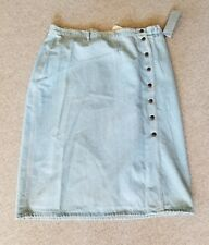 ROCKY MOUNTAIN CLOTHING long Light BlueDenim Skirt Womens size 22W  Modest NWT