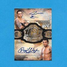 2013 UFC Bloodlines Global Champ Dual Auto Card FRANKIE EDGAR & JOSE ALDO 07/15