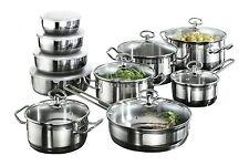 Plaque à induction casseroles set karcher jasmin 20 pièces en acier inoxydable cookware set pots
