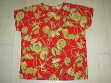 Tee-Shirt / Haut / Tunique Rouge et Or M/L