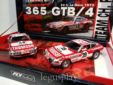 Slot car SCX Scalextric Fly 96047 365 GTB/4 Daytona 24h. Le Mans 1973 Team-09