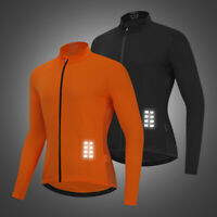 Herren Langarm Radtrikot MTB Fahrrad Kleidung Half Zipper Shirt