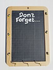 Bees Don't Forget Bees Chalk Board Memos Notice board Black Board with Key Hooks