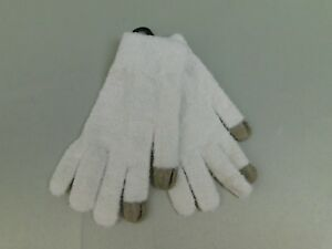 Steve Madden EZ Tap Magic Touch Soft & Fuzzy Smart Phone Tech Gloves Ivory #6336