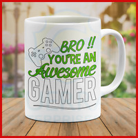 Mug Bruh! Cool Awesome Gamer Mugs Funny Best Gift Video Games Present Player