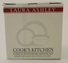 Laura Ashley Cook's Kitchen Tafelservice aus Steingut 12 Teile rot/creme