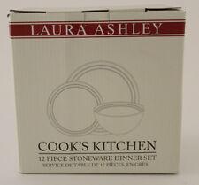 Laura Ashley Cook'S KITCHEN da tavola servizio di maiolica 12 Pezzi Rosso/Crema