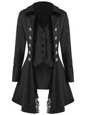 Womens Corset Rock Steampunk Gothic Coat Retro Victorian Tailcoat Cosplay Jacket