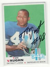 TOM VAUGHN DETROIT LIONS IOWA STATE UNIVERSITY AUTOGRAPHED CARD ROUGH SHAPE